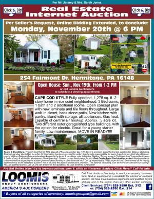 Real Estate Internet Auction Online bidding extended