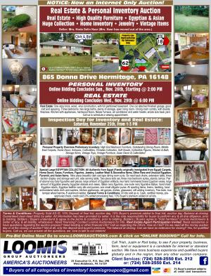 Online Real Estate and Personal Inventory Auction